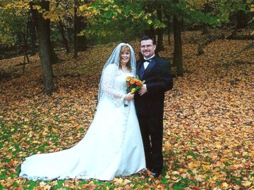 Hocking Hills Fall Wedding at the Georgian Manner B&B